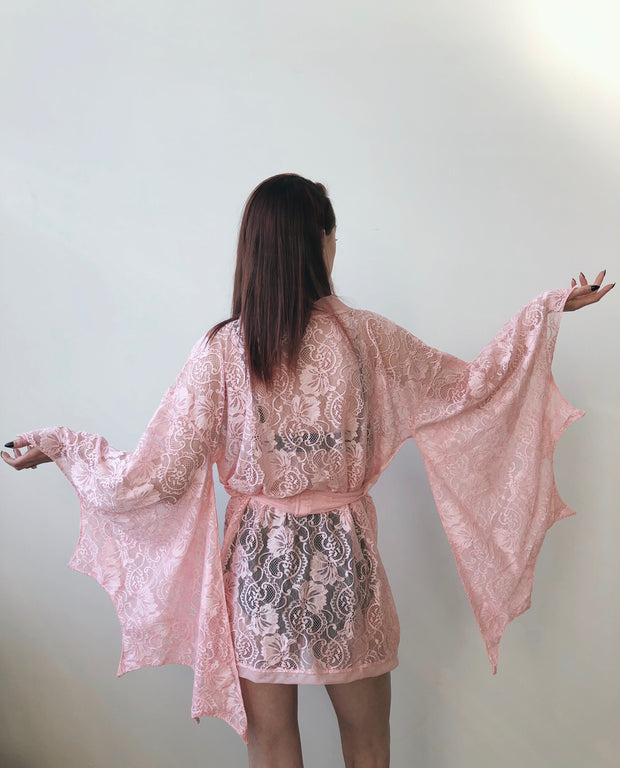 Ready to Ship - Lace Bat Wing Kimono
