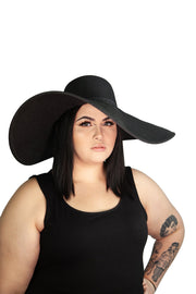 Preorder - Some Like It Goth Wide Brim Hat - Agashi Shop