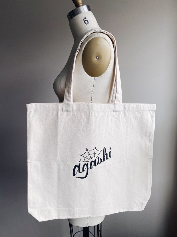 Ready to Ship Merch - Agashi Large Canvas Tote Bag - Agashi Shop