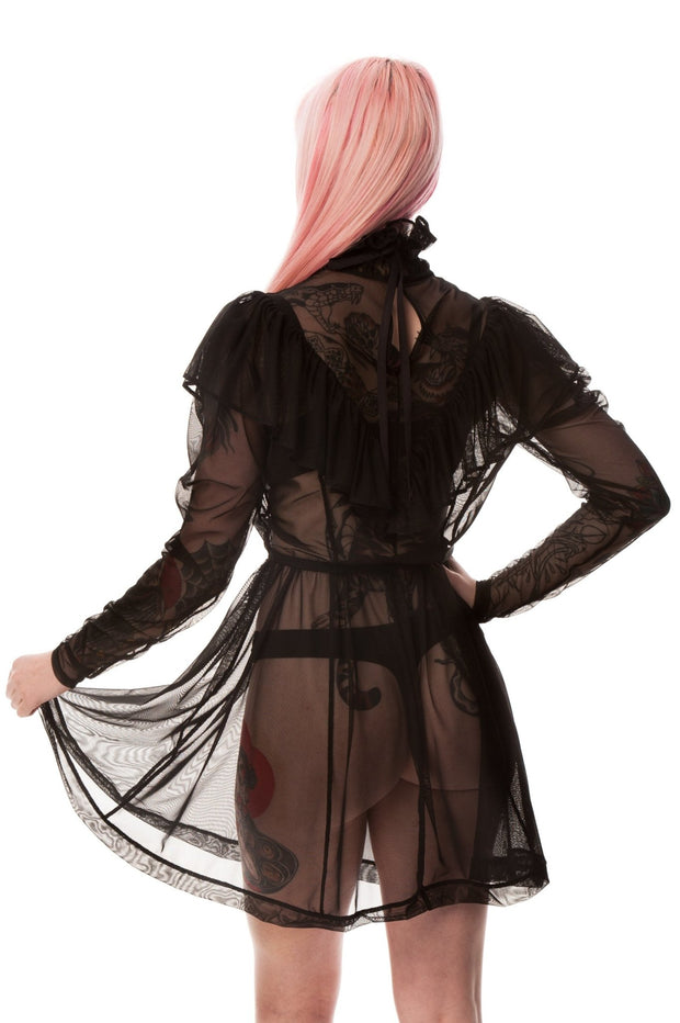 Returning Fall 2021 - Vanessa Mesh Mini Dress - Curve - Agashi Shop