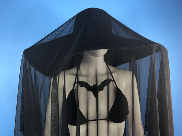 Set - Summer Mesh Veil & Some Like It Goth Hat - Agashi Shop
