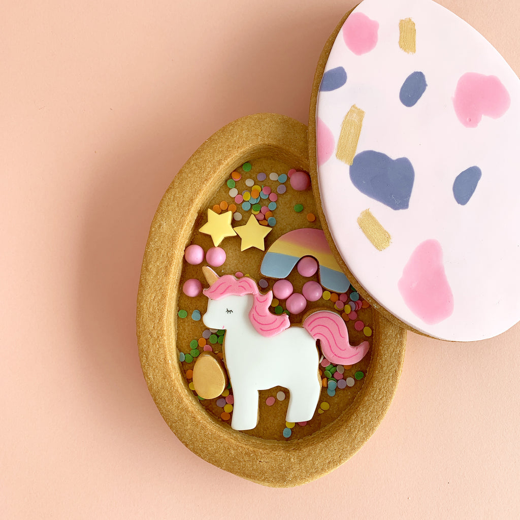 Unicorn Surprise in Easter Egg Cookie-Box