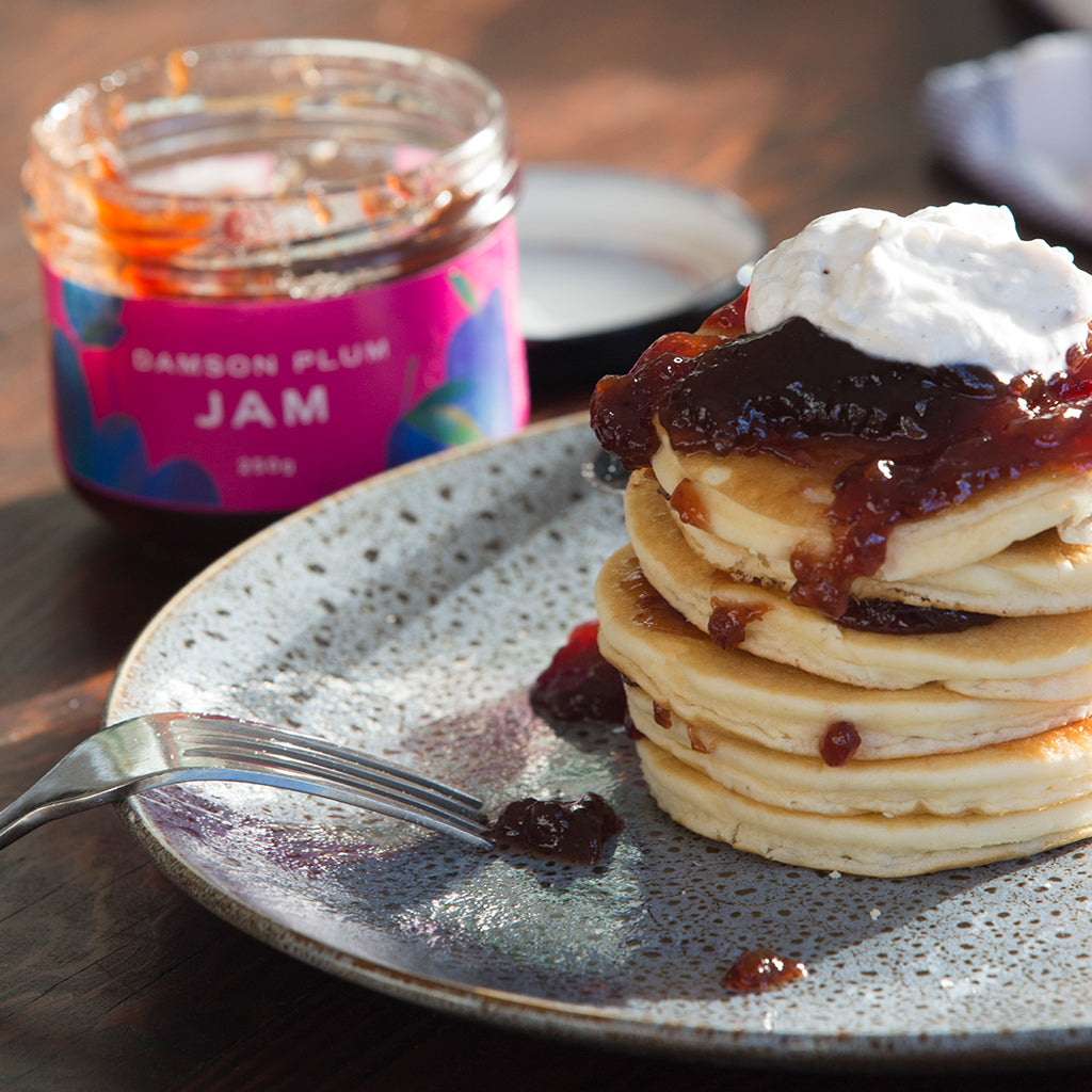 Vegan Pancakes With Jam & Yoghurt