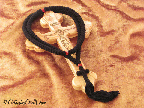 150 knot pure wool prayer rope with glass beads
