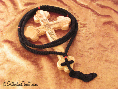 300 knot pure wool prayer rope with glass beads