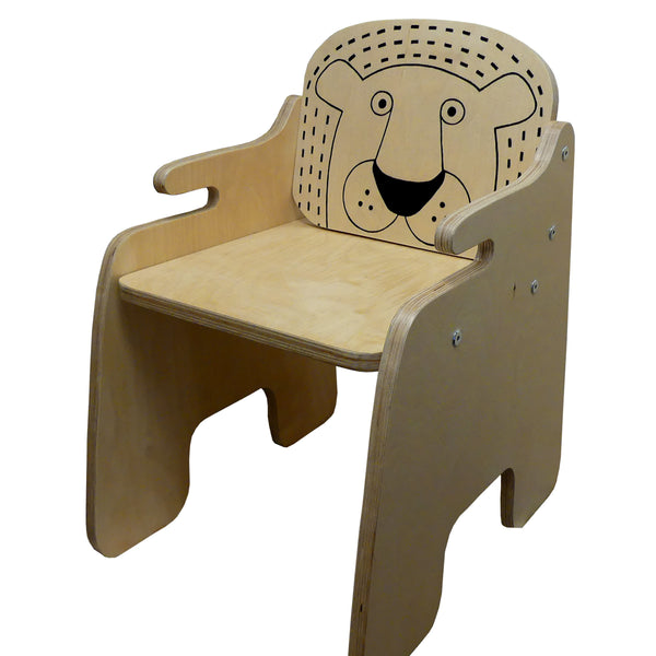 lion chair for safari themed kids' bedroom