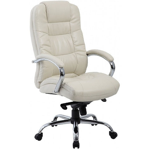 Cream Executive Leather Office Chair executive Manager Chair