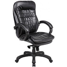 Best office chair Padded Computer PC Desk Chairs Armchair (Black) eMarkooz