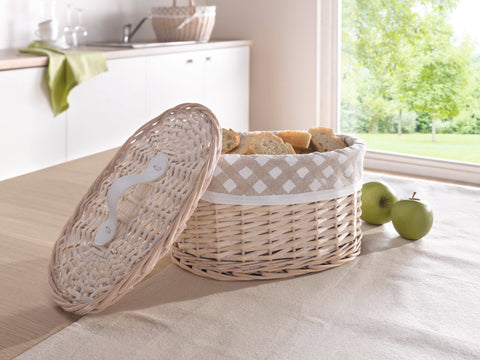 Wicker Storage Basket, Basket with Lid, Cover Basket, Stylish Basket, Braided Storage, Woven Baskets, Decorative Baskets