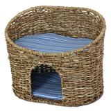 Cat Cave with Pillow, Basket Cave Bed, Dogs Cats Bed, Pet Sittings, Pet Bed