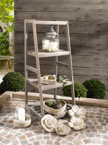 "4-Shelves Wooden ""Ladder"