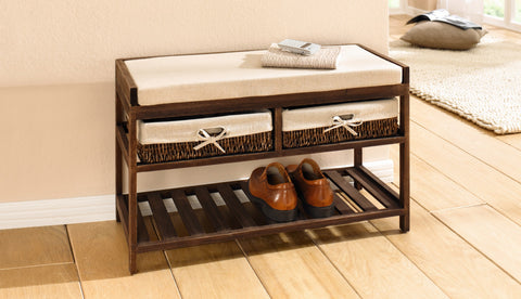 Storage Bench, Shoe Bench, Bench with Shoe Storage, Shoe Rack with Seat and Chest, Shoe Rack Bench