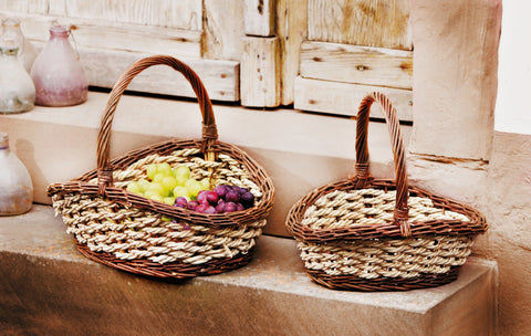 FILLING BASKET, FRUIT BASKET, CORD BRAIDED STORAGE BASKET, GIFT BASKET STUFFING, FILLED EASTER BASKETS, MULTIPURPOSE