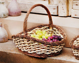FRUIT BASKET, CORD BRAIDED STORAGE BASKET, GIFT BASKET STUFFING, FILLING BASKET, FILLED EASTER BASKETS, MULTIPURPOSE