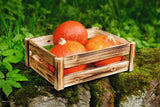 "Wooden Box, ""Flamed"", Versatile Box Basket, Beautiful Fruit Crate, Filling Basket, Fruit Box, Table Décor, Kitchen Box, Decoration"