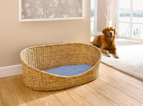 Dog basket with pillow, large, Pet Bed Basket, dog basket, dog bed, puppy beds, Pet Bed Basket House, Dog Pet Basket Bed House