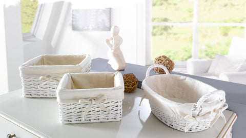 White Filling Baskets, Square, Storage Baskets, Multipurpose Baskets, Easter Baskets Filling Box, Gifting Baskets, Home Décor, Set of 2