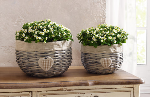 Flower Basket, Floral Baskets, Plant Pot, Flower Pot, Home Decor, Pasture Garden Decoration, Set Of 2