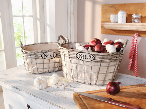 Filling Basket, Storage Basket, Decorative Kitchen Baskets, Stuffing Basket Set of 2