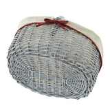 "Shopping Storage Basket, braided Traditional, Basket, ""Checkered border"", Beautiful woven Shopping"