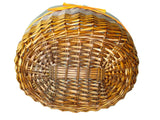 "Shopping Basket, ""Brown Bottom"", Shopping Storage Basket, Braided Traditional, Beautiful Woven Shopping, Easter Basket"