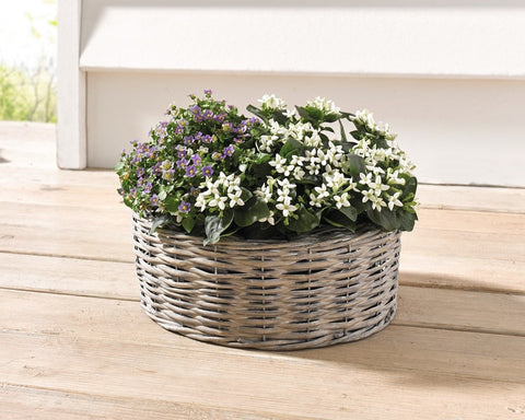 Oval planter baskets, Flower Basket,  Planter Pots, Plant Holder, Balcony Home Decor, Flower Holder Baskets