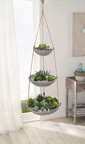 Hanging Etagere, Basket Planter