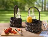 "Bottle Basket ""Wicker"", Bottle Holder Cage, Versatile Basket, Filling Basket, Storage Basket, For 2 Bottles,"