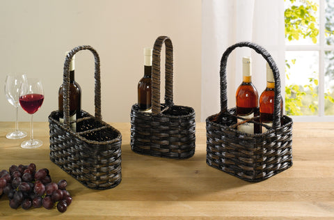Bottle Basket, Bottle Holder Cage, Versatile Basket, Filling Basket, Storage Basket, For 3 Bottles,