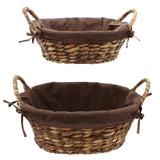Bowl Baskets With Handles, , Filling Braiding Stylish Basket, Traditionally Woven Style Plate Basket, Storage Basket, Woven Baskets, Decorative Baskets, Set of 2
