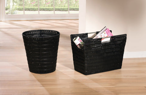 Magazine Rack, Magazine Basket, Floor Magazine Holder, Magazine Organizer, Rack with Handles,