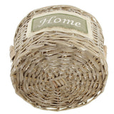 "Beautifully Woven, Charming Style, ""Home"", Stuffing Basket, Storage Basket, table Decoration, Storage Baskets, Multipurpose Basket, Set of 2"