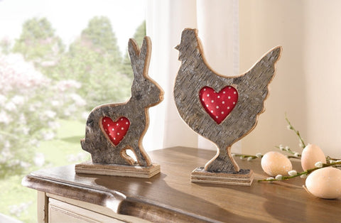 Decoration Rabbit easter decoration Bunny Red heart bunny , love bunny