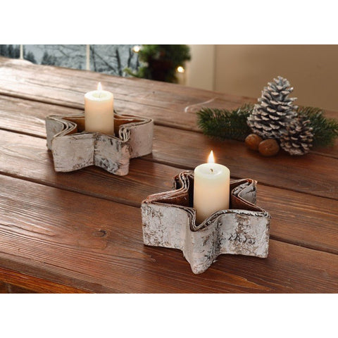 "Candle Stand Metal Holder for Candle ""Snow Star"