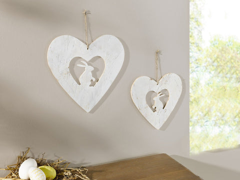 Hanging Heart, Rabbit Pendant