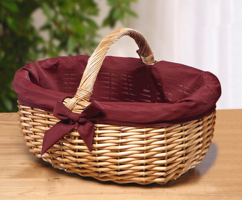 "Shopping Storage Basket, ""Red Bowl"", Filling Bowl Basket, Kitchen Stuffing Vegetable Basket, Fruit Organizer Basket Bowl"