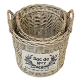 Universal Basket Multifunctional Basket Organizer, Flower Holder Planter Garden Home Decoration Wicker Woven Premium Quality Product Set of 2