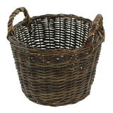 "Stuffing Braided, Basket with Handles, Filling Basket, ""Rustic"", Filling Basket, Rustic Fruit Storage Basket"