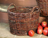 Wicker Stuffing, Braided Basket with Handles, Filling Basket,