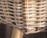 Wicker hanging Basket, Rattan Planter, Balcony planter, wicker planter basket, Wicker Rattan Planter, Wicker Basket Pot