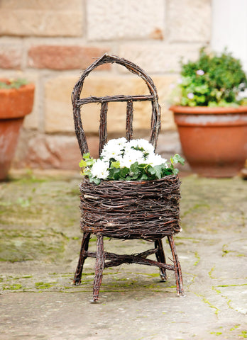 Plant Basket Chair, Flowerpot Planter, Garden Pasture,