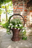 Vase Planter Holder, Plant Basket, Flowerpot Planter, Wicker Rattan Flower Holder Vase, Patio Garden Decoration