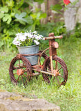 Tricycle Flower Basket, Wicker Flower Vase, Wicker Rattan, Plant Baskets, Plant Patio, Garden Decoration