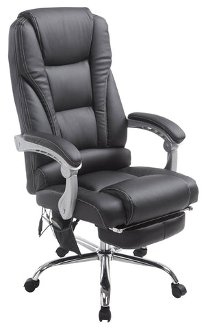 Heavy Duty high back Chair Computer office work chair with footrest, massage function Leather