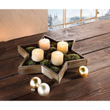 "Candle Stand ""Wooden Star"" Large Home Decoration Christmas Xmas Decoration Event Party Birthday Lighting"