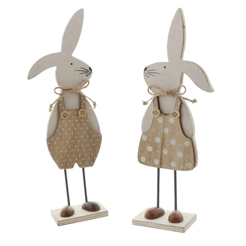 Easter bunny decoration, Bunny Rabbit Couple Stand decorative Ornament Easter Party Home Decoration Amazon