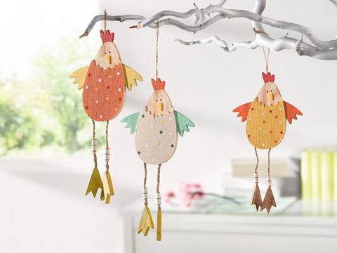 Decoration chicken Hanging Decorations, set of 3