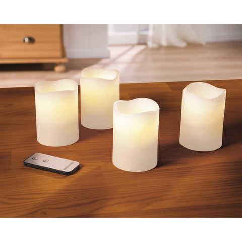 Real Wax Led Candles Set of 4 Home Decoration Christmas Xmas Decoration Event Party Birthday Lighting
