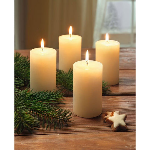 Scented Candle Vanilla Home Decoration Christmas Xmas Decoration Event Party Birthday Lighting Set of 4 Candles