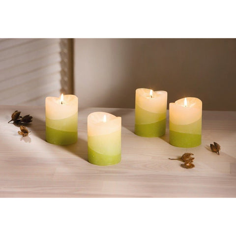 "Scented Candle ""Lemongrass"" Home Decoration Christmas Xmas Decoration Event Party Birthday Lighting Set Of 4"